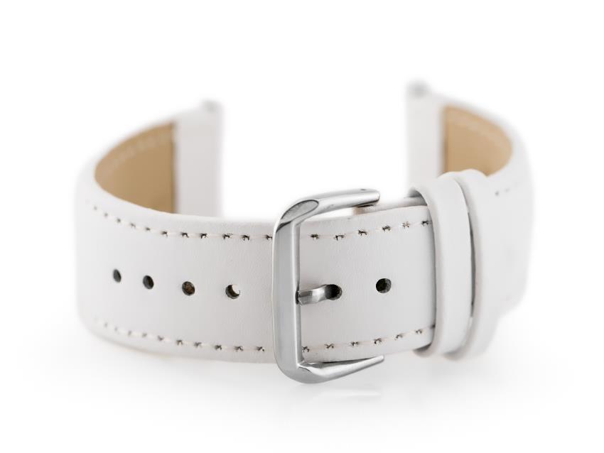 705cc9a4eab3d5 Pasek skórzany do zegarka W30 - w pudełku - biały - 24mm | AKCESORIA ...