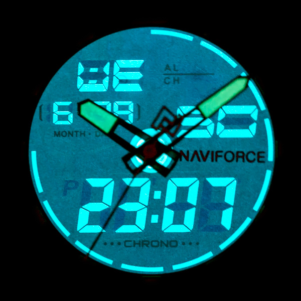 NAVIFORCE - NF9093 (zn041b) - silver/red + BOX