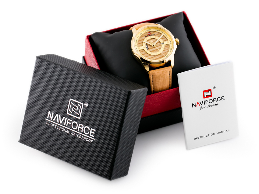 NAVIFORCE - NF9151 (zn082c) - brown/gold+ box