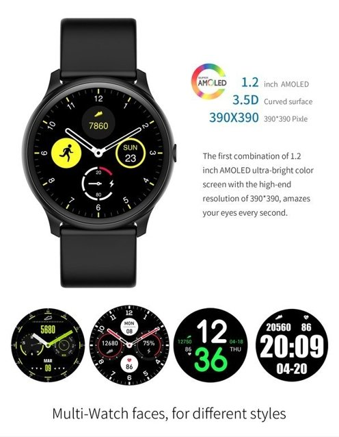 SMARTWATCH Gino Rossi -  gold/black (zg309b)