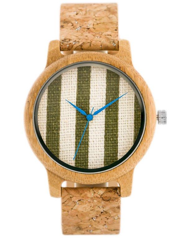 8d8229dca5 Drewniany zegarek Bobobird - korkowy pasek (zx635b) Brązowy ...