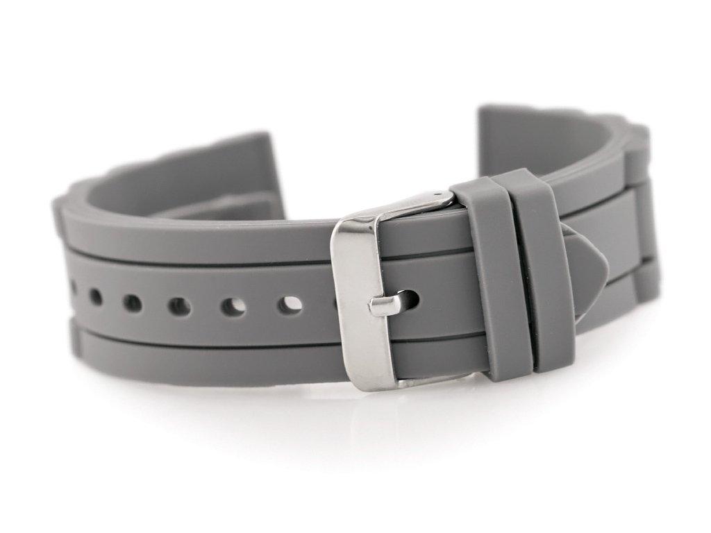 491165aa48d836 Pasek gumowy do zegarka 904T - karbowany - 22mm Szary   AKCESORIA \ PASKI    Tayma - najładniejsze zegarki w sieci!