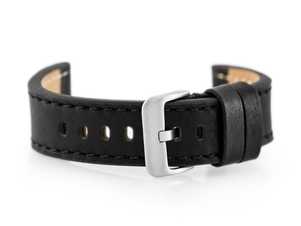 3ea01c60eb8e7 Pasek skórzany do zegarka W48 - PREMIUM - czarny czarne - 20mm ...