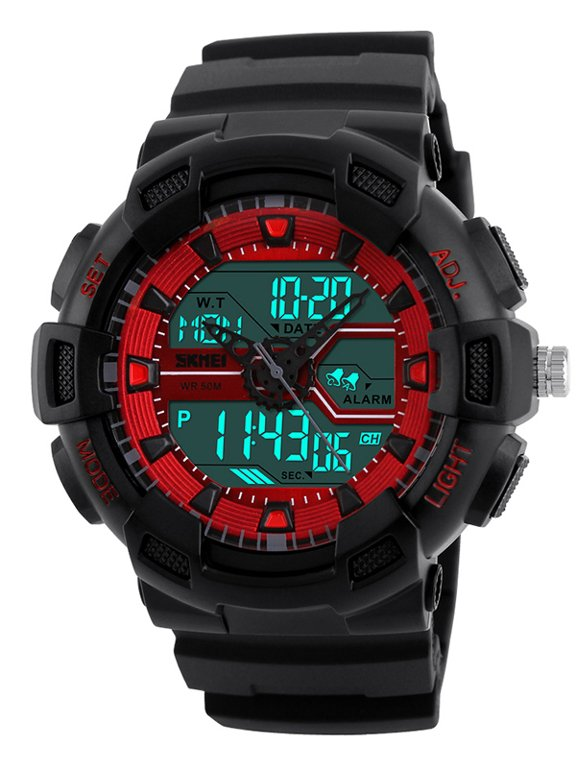 cda23d3a71bd1d Skmei AD1189 - elektroniczno-wskazówkowy (zs018c) Czarny | MĘSKIE \ STYL \  Sportowe MĘSKIE \ PRODUCENCI \ Skmei | Tayma - najładniejsze zegarki w  sieci!