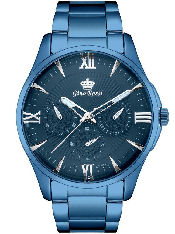 9d3199bb0e376 Zegarek GINO ROSSI C10607B-6F1 (zg254e) navy blue Niebieski | MĘSKIE \  PRODUCENCI \ Gino Rossi MĘSKIE \ STYL \ Eleganckie | Tayma - najładniejsze  zegarki w ...