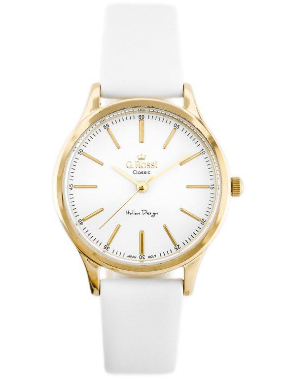c65ed24e7349f Zegarek GINO ROSSI - C11765B-3C2 (zg779a) white/g. Złoty || Biały | DAMSKIE  \ PRODUCENCI \ Gino Rossi DAMSKIE \ STYL \ Casual | Tayma - najładniejsze  ...