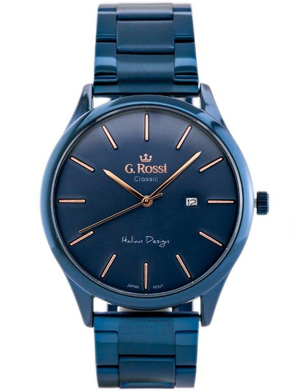 769643ac7ad18 Zegarek GINO ROSSI C1273B-6F3 (zg255e) blue Niebieski | MĘSKIE \ PRODUCENCI  \ Gino Rossi MĘSKIE \ STYL \ Eleganckie | Tayma - najładniejsze zegarki w  sieci!