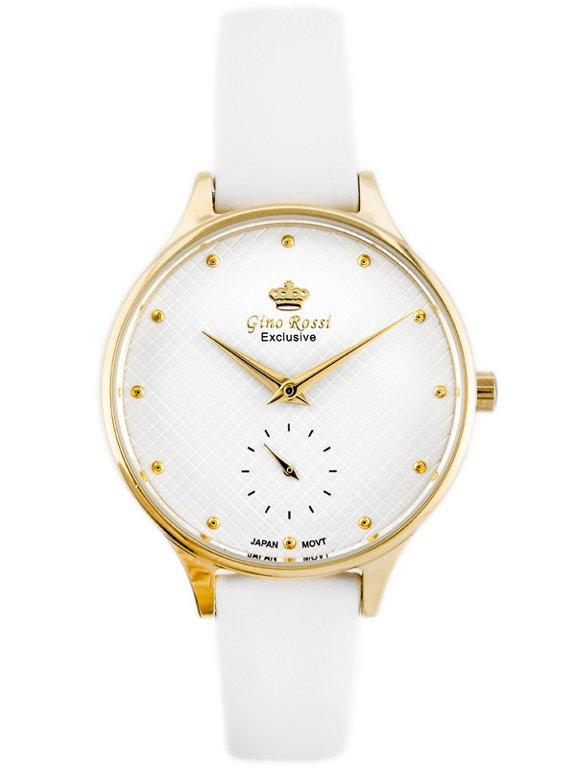 9d8939996f879 Zegarek GINO ROSSI E11636A-3C2 EXCLUSIVE (zg782b) Złoty || Biały | DAMSKIE  \ PRODUCENCI \ Gino Rossi DAMSKIE \ STYL \ Eleganckie DAMSKIE \ STYL \  Casual ...