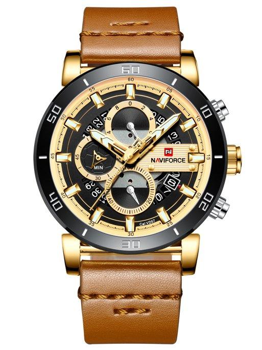 4ccb8b60d82ab9 + BOX Złoty || Brązowy | MĘSKIE \ PRODUCENCI \ Naviforce MĘSKIE \ STYL \  Casual | Tayma - najładniejsze zegarki w sieci!