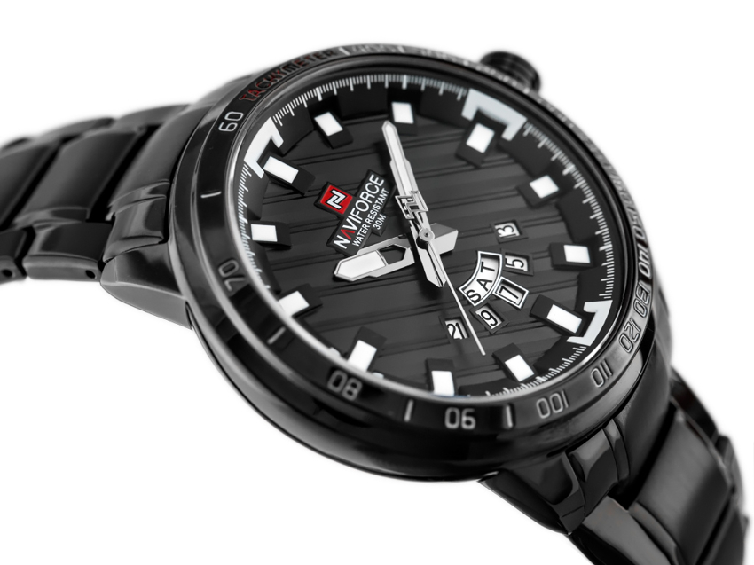 ZEGAREK MĘSKI NAVIFORCE - NF9090 (zn040d) - black + BOX