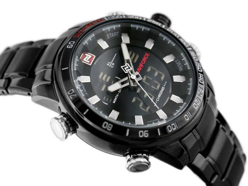 ZEGAREK MĘSKI NAVIFORCE - NF9093 (zn041c) - black/white + BOX