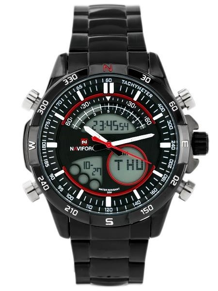 NAVIFORCE - VICKERS  (zn012e) black/red