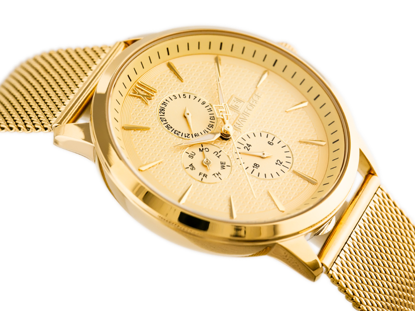 Zegarek NAVIFORCE - NF3003 (zn084b) gold + BOX