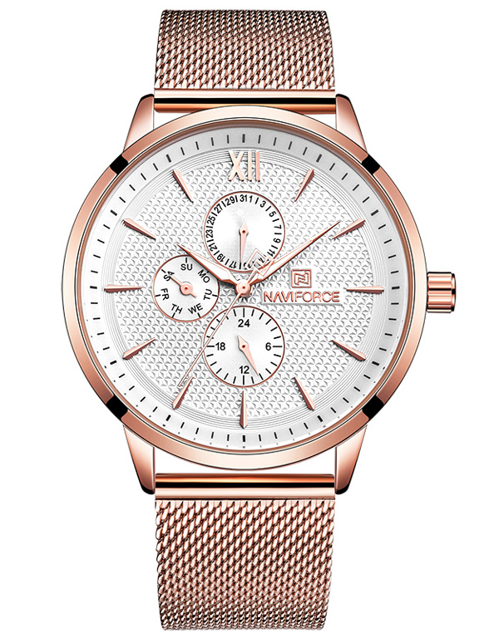 Zegarek NAVIFORCE NF3003 (zn084b) rose gold + BOX
