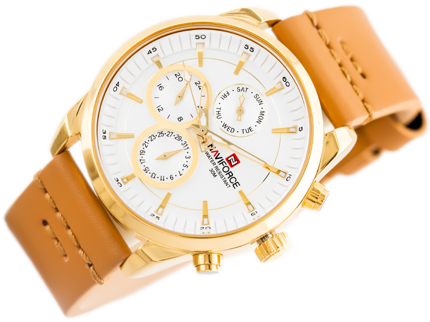 Zegarek NAVIFORCE - NF9148 (zn085b) gold + BOX