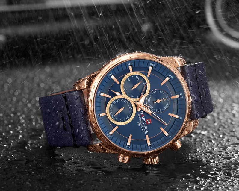 Zegarek NAVIFORCE - NF9148 (zn085e) blue/rg + BOX